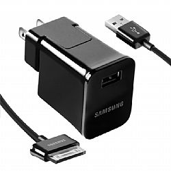 Samsung Travel Adapter w/ USB Cable for Samsung Galaxy Tab