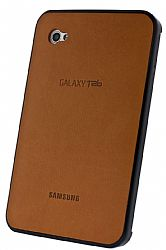 Samsung Executive High-end Leather Snap-on Back Cover for Galaxy Tab (Camel)