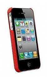 Naztech Carbon Fiber Graphite Shield for iPhone 4 / 4S (Red)