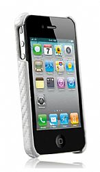 Naztech Carbon Fiber Graphite Shield for iPhone 4 / 4S (Silver)
