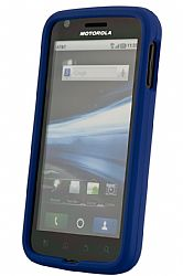 Wireless Solutions  Soft Touch Snap-On Case for Motorola Atrix in Blue