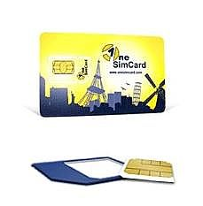 OneSimCard International Micro SIM Card With $10 Airtime Compatible With IPhone 4 & IPad 3G