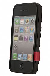 Dickies Coverall Black Molded TPU case for iPhone 4 - Includes three colored kick stands