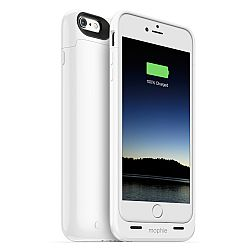 mophie Juice Pack Rechargeable External Battery Case for iPhone 6 Plus (2600 mAh) - White