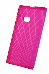 Ventev Waffle Patterned Dura Gel Case for Nokia Lumia 900 (Plum Pink)