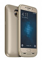 mophie Juice Pack Rechargeable External Battery Case for Samsung Galaxy S6 (3300 mAh) - Gold