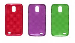 Wireless Solutions Combo Dots Dura-Gel Cases (1 Red / 1 Purple / 1 Green) 318207 for Samsung Skyrocket SGH-I727