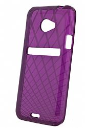 Ventev Waffle Patterned Dura Gel Case for HTC EVO 4G LTE (Purple)