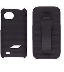 Wireless Solutions Black Case/Holster for HTC Rezound (Black)