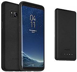 mophie charge force case & powerstation mini Made for Samsung Galaxy S8+ (3000 mAh) - Black