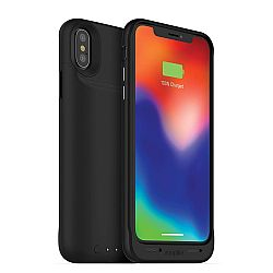 mophie Juice Pack Wireless - Qi Wireless Charging Protective Battery Pack Case for iPhone X – Black