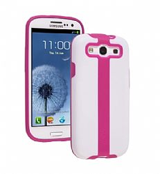 Ventev 2TOUCH Case for Galaxy S3 III (White / Purpinkle)