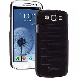 Ventev Accent Case for Galaxy S3 III (Glossy Black / Glossy Blue)