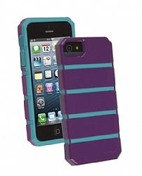 Ventev shockguard Case, Apple iPhone 5/5s in Purple/Aqua