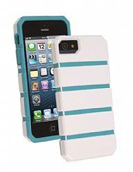Ventev shockguard Case, Apple iPhone 5/5s in White/Aqua