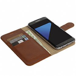 Krusell Ekero FolioWallet 2in1 Case for Samsung Galaxy S7 Edge - Cognac