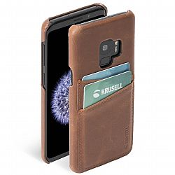 Krusell Sunne 2 Card Cover for Samsung Galaxy S9 in Vintage Cognac