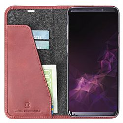 Krusell Sunne 2 Card FolioWallet for Samsung Galaxy S9+ in Vintage Red