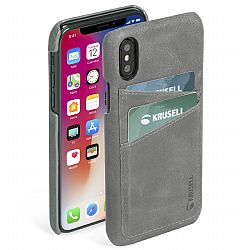 Krusell Sunne 2 Card Cover for Apple iPhone Xs Max - Vintage Grey