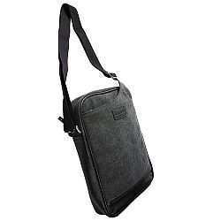 Krusell Uppsala Tablet Messenger Case in Eco-friendly Canvas for Apple iPad 3, IPad Mini & MacBook Air 11-inch  - Black