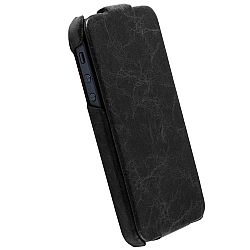 Krusell 75536 Tumba SlimCover Premium Leather Flip Case for Apple iPhone 5 - Vintage Black