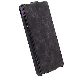Krusell 75556 Tumba SlimCover Premium Leather Flip Case for Sony Xperia Z - Vintage Black