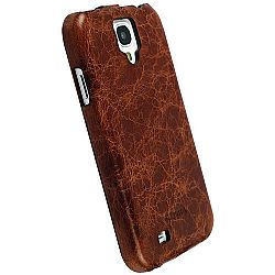 Krusell 75575 Tumba SlimCover Premium Leather Flip Case for Samsung Galaxy S4 - Vintage Brown
