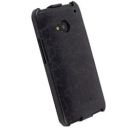 Krusell 75579 Tumba SlimCover Premium Leather Flip Case for HTC ONE - Vintage Black