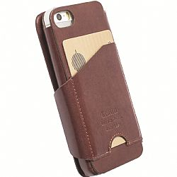Krusell 76009 Kalmar FlipWallet for Apple iPhone 5, iPhone 5S, iPhone 5C - Brown