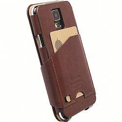 Krusell 76012 Kalmar FlipWallet for Samsung Galaxy S5 - Brown