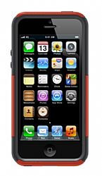 OtterBox iPhone 5 Commuter Series Case - Bolt (Lava Orange / Slate Grey)
