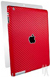BodyGuardz Carbon Fiber Armor Full Body Protective Skin for the Apple New iPad (3rd gen/iPad 3) - Red