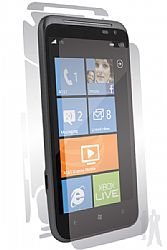 BodyGuardz UltraTough Optically Clear Skins Full Body Protection for HTC Titan II (AT&T) with Anti-Microbial - Gel/Dry Apply
