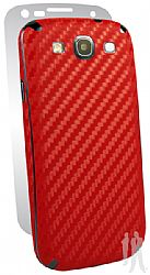 BodyGuardz Carbon Fiber Armor Full Body Protector for Samsung Galaxy S III / S3 - Red