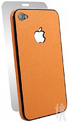 BodyGuardz Ultra-Thin Stylish Full Body Scratch Protection for Apple iPhone 4 / 4S - Tangerine Slice