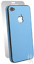 BodyGuardz Ultra-Thin Stylish Full Body Scratch Protection for Apple iPhone 4 / 4S - Blue Citrus