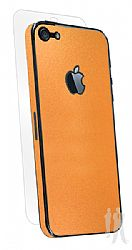 BodyGuardz Armor Rindz Ultra-Thin Stylish Full Body Scratch Protection for iPhone 5 - Tangerine Slice