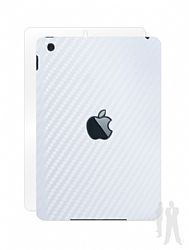 BodyGuardz Armor Carbon Fiber Full Body Stylish Protection Film for Apple iPad Mini - White