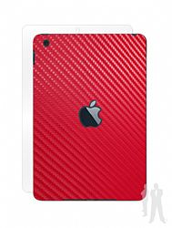 BodyGuardz Armor Carbon Fiber Full Body Stylish Protection Film for Apple iPad Mini and Mini w/Retina display - Red