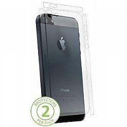 Bodyguardz UltraTough Clear Protectors for Apple iPhone 5 (Gel/Dry Apply) - Back & Sides Only