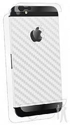 BodyGuardz Carbon Fiber Armor Full Body Protector for iPhone 5 - Style Cut - White