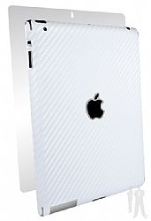 BodyGuardz Armor Carbon Fiber Full Body Stylish Protection Film for Apple iPad 4 with Retina Display - White