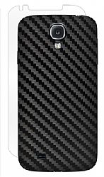 BodyGuardz Carbon Fiber Armor Stylish Skin Full Body Protector for Samsung Galaxy S4 - Black
