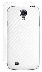 BodyGuardz Carbon Fiber Armor Stylish Skin Full Body Protector for Samsung Galaxy S4 - White