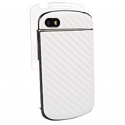 BodyGuardz Carbon Fiber Armor Full Body Protector for Blackberry Q10 - White