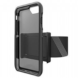 Bodyguardz Trainr Case with Armband for iPhone 6/6s/7/8 PLUS in Black/Gray