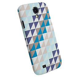 Krusell 89867 PrintCover Slim Case for Samsung Galaxy S4 - Blue Triangle
