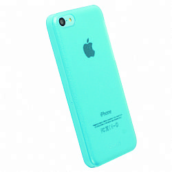 Krusell 89908 FrostCover Case for Apple iPhone 5C - Transparent Blue