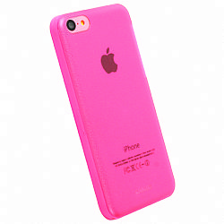 Krusell 89910 FrostCover Case for Apple iPhone 5C - Transparent Pink