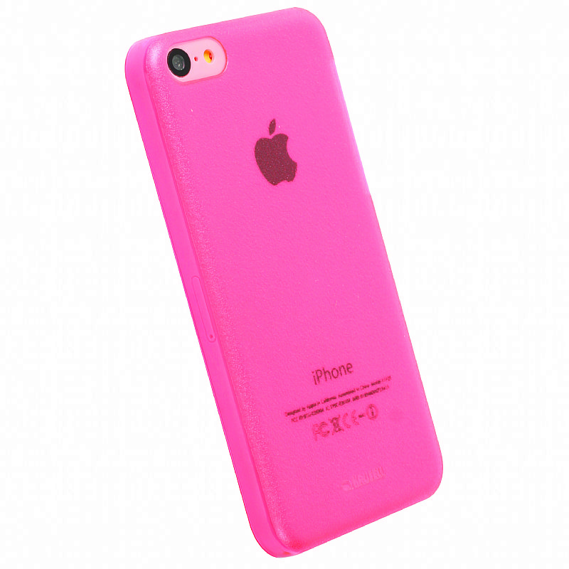 Krusell 89910 FrostCover Case for Apple iPhone 5C - Transparent Pink ...